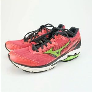 Miznuo Wave Rider 16 Running Shoes Pink/Lime 8